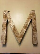 """Rare Large Antique Metal Letter """"M"""" 17 3/4"""" H x 17 3/4"""" W x 2 1/2"""" D"""