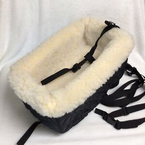 Snoozer Small Dog Console Car Seat W/Safety Straps Simulated Sheep Foam Cushion