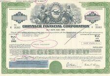 Chrysler Financial Corporation 9,5% Note due 1983, USA, Amerika, Bond, Automobil
