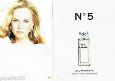 PUBLICITE ADVERTISING 116  2008  Chanel (2p) eau Première parfum Nicole Kidman