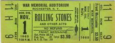 ROLLING STONES 1965 U.S. Tour Unused Concert Ticket