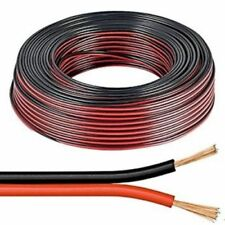 10m Red & Black 0.5mm Loud Speaker Cable Wire Ideal for Car Audio & Home HiFi