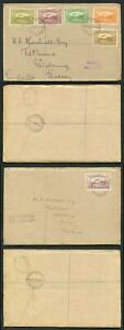 New Guinea SG212/20 1939 Part Set on 2x Cover to London