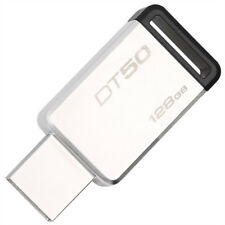 Kingston USB3.1 128GB Metal USB Flash Drive DT50 High-Speed On-Car Pen Thumb