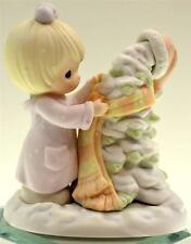 Precious Moments GIRL DRESSING TREE WITH HAT & SCARF 455873 NIB