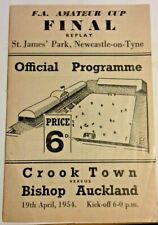 More details for crook town v bishop auckland f.a.a. cup final replay prog 19/4/54 st james park.