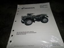 NOS 2002 Honda TRX400FW Dealer Set-Up Instructions Manual