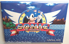 "Sonic the Hedgehog Sega Title Screen 2"" x 3"" Refrigerator Magnet"
