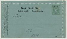 ÖSTERREICH 1883 3kr GA-Umschlag, KARTEN-BRIEF, ungebraucht *