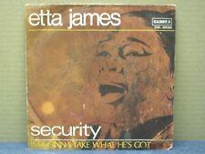 ETTA JAMES - SECURITY - 45 GIRI - VG+/VG+