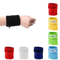 Wrist Band Wallet Zipper Money Pocket for Gym Sports Travel Running Fitness