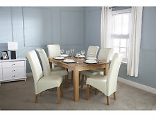 Solid Oak Dining Table 6 to 8 Seater - Butchers Block Design - 5ft 150cm
