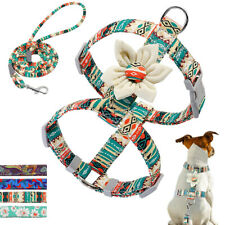 Cute Floral Small Dog Vest Harness and Leash Pet Puppy Cat Strap French Bulldog