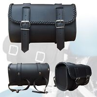 ARD® Braided Waterproof Synthetic Leather Motorcycle Round Front Fork Tool bag