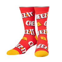 Cool Socks, Unisex, Food, Cheezy Cheez It Crackers, Crew, Funny Novelty Crazy