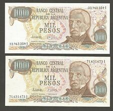 Argentina 1000 Pesos N.D. (1976); UNC; P-304d; 2 different signatures