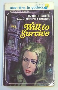 WILL TO SURVIVE By Elizabeth 1958 Salter Ace Star Paperback Book Gothic 123