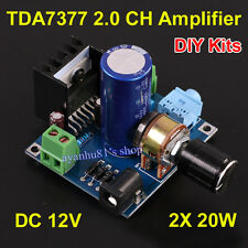 DC 12V TDA7377 20W + 20W Dual Channel Stereo Audio Amplifier Board Kits for Car
