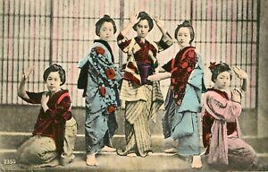 JAPAN - 5 GEISHA / LADIES - POSTCARD 1904