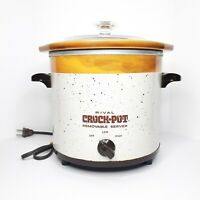 Vintage Rival Crock Pot Slow Cooker Model 3150/2 3.5qt W/ Removable Crock&Lid