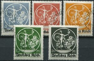 (844) 5 VERY GOOD LIGHTLY USED 1920 GERMANY 3m - 20m SG132 - SG136 C.T.O.