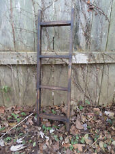 Primitive Rustic Aged Ladder Home Wall Decor Jewelry Tie Towel Quilt Towel Rack