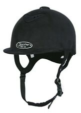 Horse Riding Hard Hat Helmet Swing Pro AIR Black Suede Size 52, 6 3/8, XXS