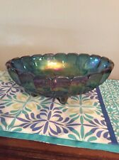 carnival glass bowl grapes