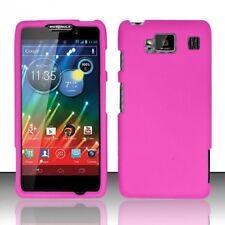 Hard Rubberized Case for Motorola Droid RAZR Maxx HD XT926M - Pink