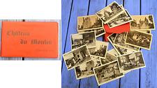 Jeu de 18 cartes postales anciennes sous enveloppe, Château du Moulin (41),