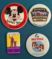 WDW Mickey, Chip & Dale, Grand Opening Wilderness Lodge and Credit Union Badges