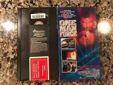 ONE MAN FORCE VHS! 1989 Action! Also See Lethal Weapon 2 The Punisher K-9 Cyborg