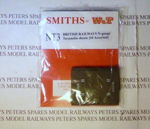 Smiths NT3 British Railways Tarpaulin Sheets (10 Pk Assorted) N Gauge