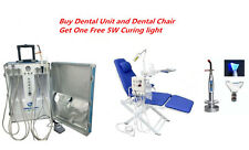 Dental Portable Unit +Dental Chair with LED Lamp and Water Supply+Curing Light