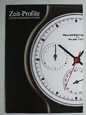 Prospekt Audi Uhren - Zeit-Profile, ca. 1990, 6 Seiten, deutsch/englisch