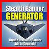 Stealth Banner Generator - Banner, die wie Textlinks aussehen - Master Reseller