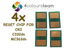 4x TONER RESET CHIPS FOR OKI C332dn MC363dn 46508716 46508715 46508714 46508713