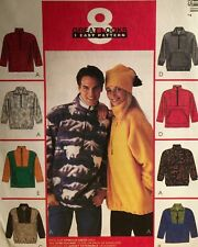 NEW VINTAGE  'MCCALL'S' PATTERN 9582UNISEX FLEECE PULLOVER JACKET TOP XXL 50-52
