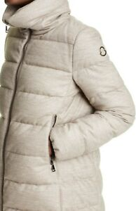 $2110 Moncler AUTH NEW Torcon Puffer Coat 2 M Quilted Down Metallic Wool Blend