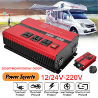 10000W Car Solar Power Inverter 12/24V To 110/220V Modified Sine Wave Converter