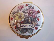 "Kingsley Enamel Trinket Box ""I Love You"" In The Staffordshire Box"