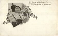 Danville KY Dr. Ephraim McDowell c1900 Private Mailing Card