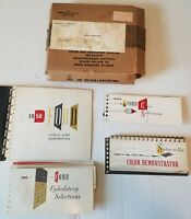 1958 FORD Dealer Salesman Album SHOWROOM Color & Upholstery Original w BOX