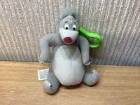Disney Jungle Book Plush Keyring Baloo Soft Toy Rare Pram Charm Bag Clip