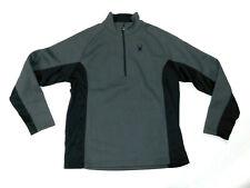 Spyder Mens XL 1/2 Zip Jacket Gray Black NWOT