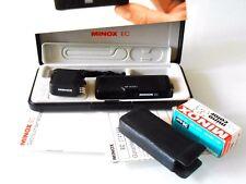 Minox EC mit Blitz,mini Spionenkamera mit Ledertasche,kette,Handbuch und Box