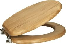 Oak Wooden Bathroom Toilet Seat Bottom Fitting Fixings Included High Quality