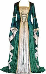 Kostüm Geplaimir Mittelalter Kleidung Damen Renaissance Samt Kleid Größe XXXL