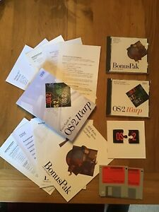 OS/2 Warp v3 - Complete PC Retro Operating System - All Discs and Books Present.