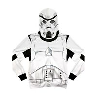 Star Wars Storm Trooper Costume Mask White Adult Hooded Sweatshirt Hoodie Jacket